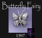 Sterling Silver Butterfly Fairy Pendant, Hidden Bail