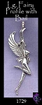 Sterling Silver Fairy Pendant, Large Bailed Fairy