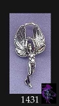 Sterling Silver Fairy Pendant, Fairy Queen