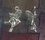 Sterling Silver 3D Fairy with Wand Charm
