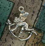 Sterling Silver 3D Flower Fairy Pendant
