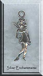 3D Fairy Charm, Tinkerbell Jewelry in Sterling Silver