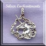 Sterling Silver Fancy Unicorn Pendant