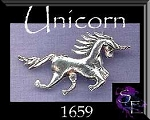 Sterling Silver Charging Unicorn Pendant with Hidden Bail