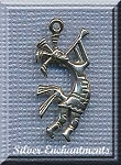 Sterling Silver Ornate Kokopelli Pendant, Kokopelli Jewelry, 25x11mm