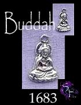 Sterling Silver Buddha Charm, Small