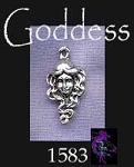 Sterling Silver Goddess Charm, Face