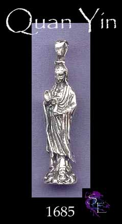 Sterling silver large quan yin pendant or altar statue silver sterling silver large quan yin pendant or altar statue thecheapjerseys Gallery