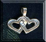 Sterling Silver Bailed Linked Hearts Pendant