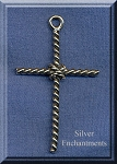 Sterling Silver Twist Rope Cross Pendant