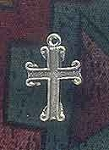 Sterling Silver Gothic Cross Charm