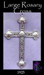 Sterling Silver Extra-Large Rosary Cross Pendant