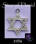 Sterling Silver Ornate Star of David Pendant, Jewish Star of David Jewelery