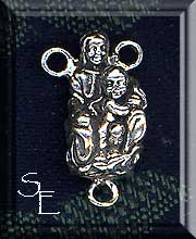 Sterling Silver Madonna and Child Rosary Y Finding, 21x11mm