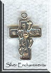 Sterling Silver Cross with Footprints Charm