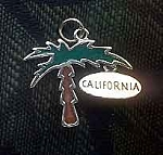 Sterling Silver Palm Tree Pendant, Enameled California Palm Tree Jewelry