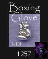 Sterling Silver Boxing Glove Charm, 3D