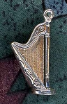 Sterling Silver Harp Pendant