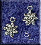 Sterling Silver Flower Charm, 3D Flower Jewelry