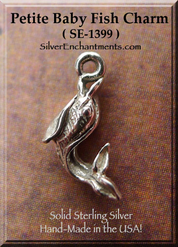 Sterling Silver Tiny Fish Necklace