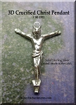 Sterling Silver Crucified Christ Pendant, Jesus Jewelry