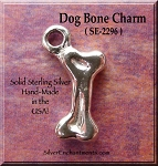 Sterling Silver Dog Bone Charm, 3D Dog Bone Jewelry