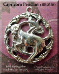 ZDISCONTINUED - Sterling Silver Capricorn Medallion Pendant