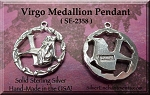 Sterling Silver Virgo Medallion Pendant