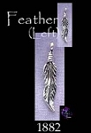 Sterling Silver Beader Bailed Feather Charm, Left