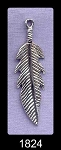 Sterling Silver Large Double-Sided Feather Pendant