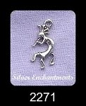Sterling Silver Small Kokopelli Charm Necklace, 16x10mm Kokopelli Necklace