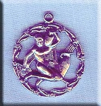ZDISCONTINUED - Sterling Silver Aquarius Medallion Pendant