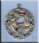 ZDISCONTINUED - Sterling Silver Pisces Medallion Pendant