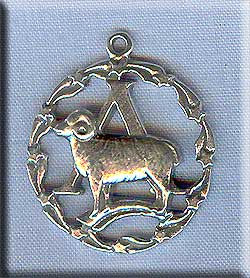 Sterling Silver Aries Medallion Pendant