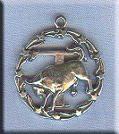 ZDISCONTINUED - Sterling Silver Taurus Medallion Pendant