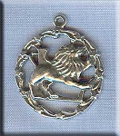ZDISCONTINUED - Sterling Silver Leo Medallion Pendant