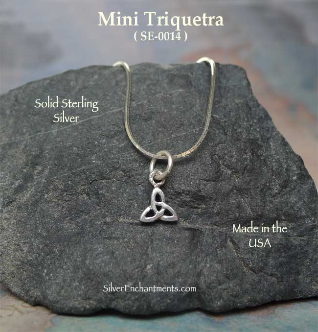 Sterling Silver Triquetra Charm, Small