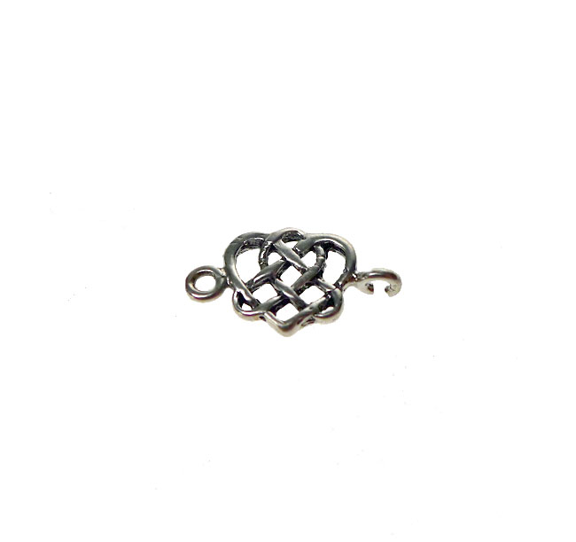 Sterling Silver Celtic Connectors, Heart Triquetra Findings