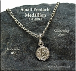 Sterling Silver Small Pentacle Medallion Charm