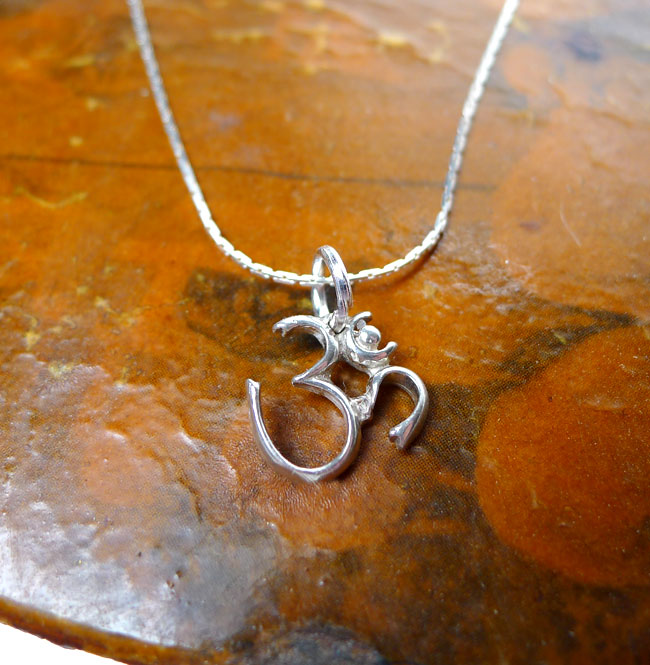 Sterling silver om symbol necklace yoga and meditation jewelry sterling silver om charm aloadofball Gallery
