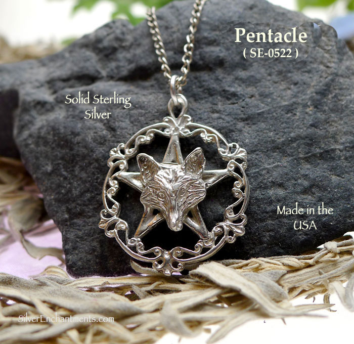 Sterling silver wolf pentacle pendant victorian pentagram with wolf sterling silver victorian wolf pentacle pendant aloadofball Gallery