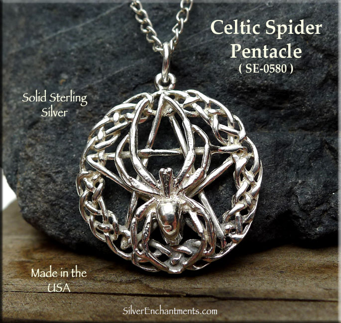 Sterling silver celtic spider pentacle pendant silver enchantments sterling silver celtic spider pentacle pendant aloadofball Gallery
