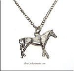 Sterling Silver 3D Double Sided Horse Charm Pendant