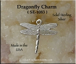 Sterling Silver Dragonfly Charm, Dragonfly Necklace