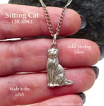Sterling Silver Cat Charm-Pendant