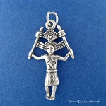 Sterling Silver Kachina Dancer Pendant, Native American Indian