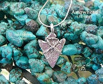 Sterling Silver Arrowhead Pendant, Bailed
