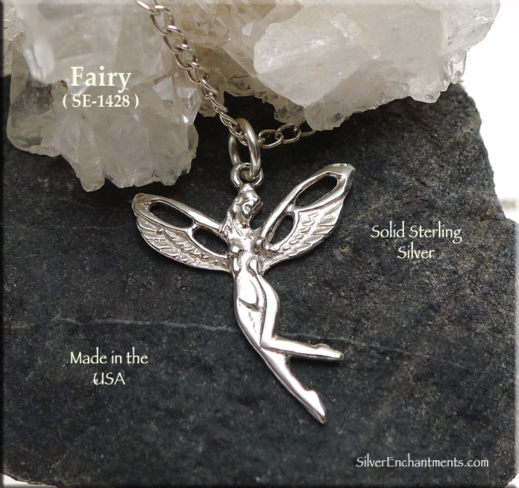 Sterling Silver Fairy Pendant, Nymph Slyph