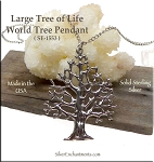 Sterling Silver Tree of Life Pendant, Large
