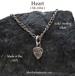 Sterling Silver Celtic Heart Charm, Small Double-sided